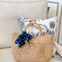 straw bag saturday shopping