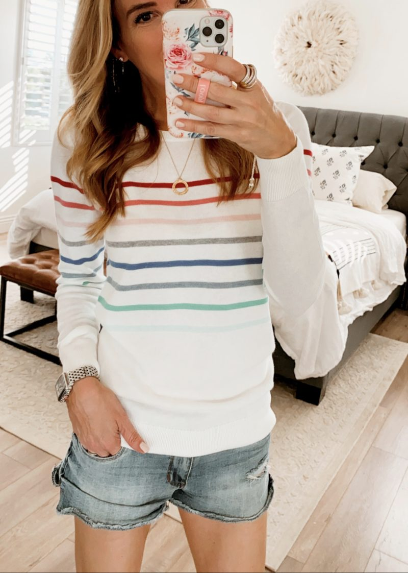 amazon striped sweater