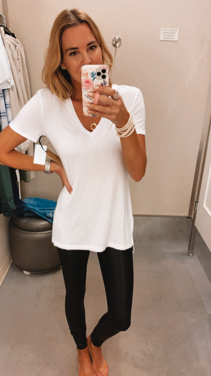 long white t shirt