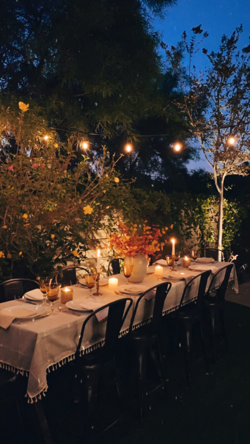 fall outdoor table