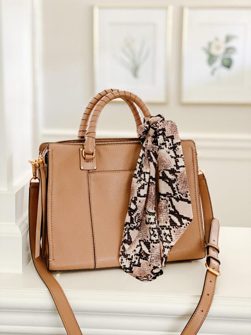 scarf on bag