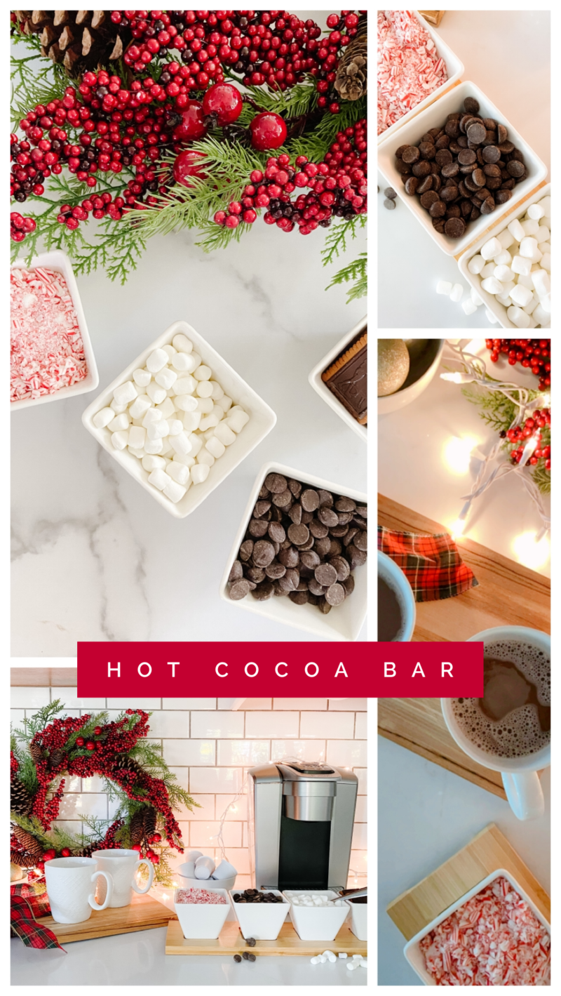 hot cocoa bar collage