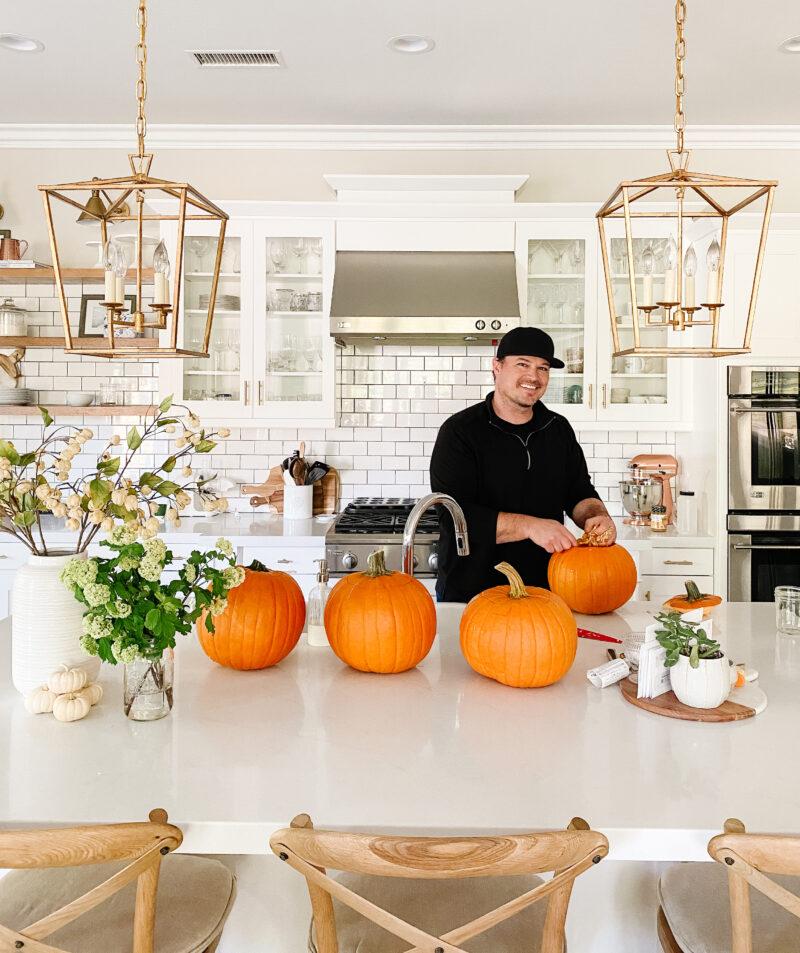 monday wrap up carving pumpkins