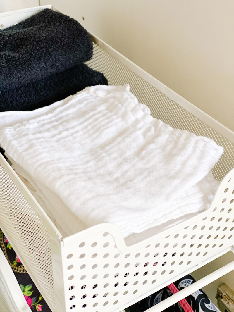 organized cleansing cloths