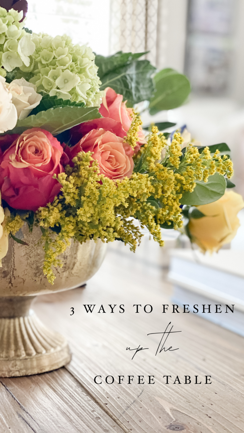 three ways to freshen up a coffee table