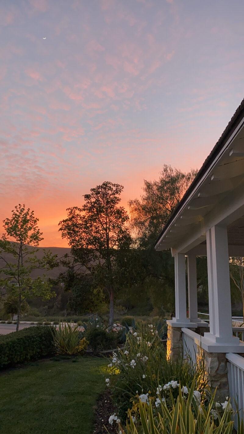 monday morning wrap up sunset
