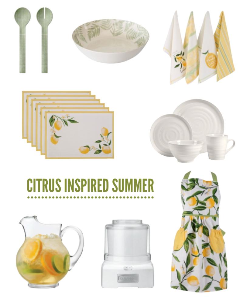 citrus inspired summer collage