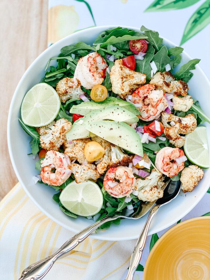 shrimp and cauliflower salad