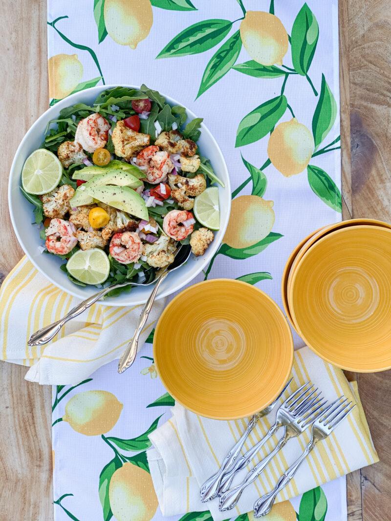 shrimp cauliflower salad