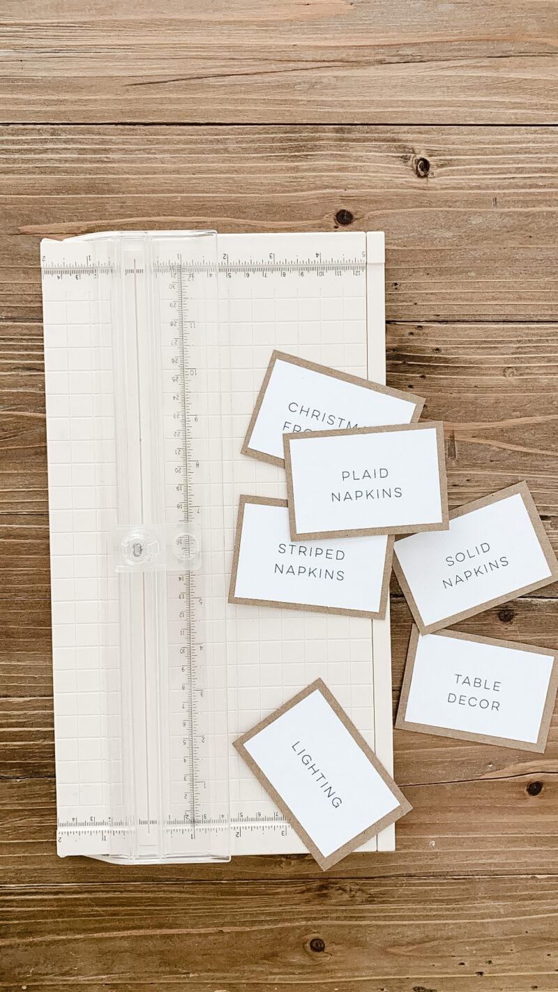 organization homemade labels