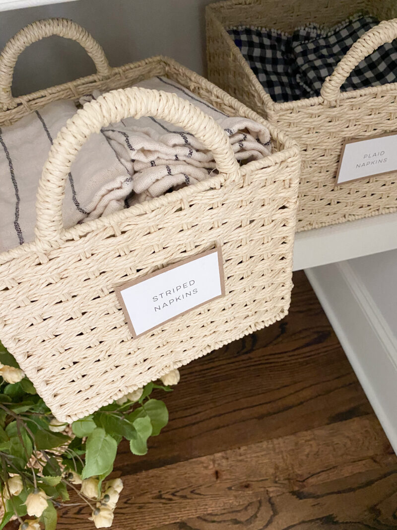table linens storage