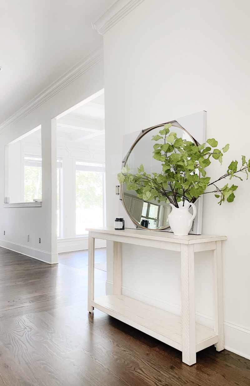 console table before